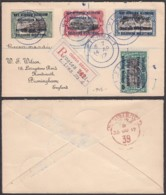 Congo Belge - Lettre COB 28/31 En Recom. De Kigoma 14/AP/17 Vers Birmingham (RD54) DC5557 - Belgisch-Kongo