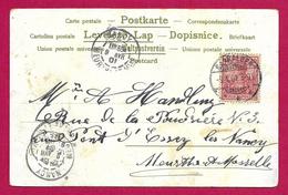 Écrit Postal Daté De 1901 - Voyagé De Saaralben - Sarralbe - à Destination De Pont D'Essey - Allemagne