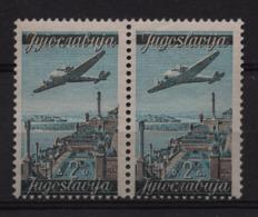 60. Yugoslavia 1947 2d Pair With Reverse State Name Layout MNH - 1945-1992 Repubblica Socialista Federale Di Jugoslavia