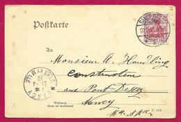 Écrit Postal Daté De 1910 - Voyagé De Saint-Avold à Destination De Pont D'Essey - Allemagne