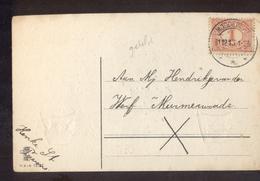 Moddergat Langebalk - 1913 - Poststempel