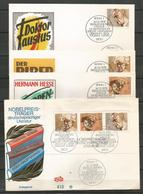 Germany 1979 Nobel Laureate In German-language Literature 4 FDC Full Set - FDC: Covers