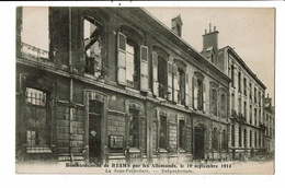 CPA - Cartes Postale-France-Reims- Sous Préfecture Après Le Bombardement Allemand En 1914 VM11610 - Reims