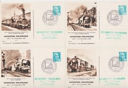 FRANCE 1952 RARE Collection De 10 Cartes Maximum Exposition Philatélique 1-2 Nov 1952 Paris Les Cheminots Philatélistes - Maximumkarten