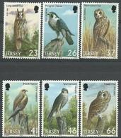Jersey 2001 Yvertn° 986-991 *** MNH Cote 12,00  Euro Faune Rapaces Oiseaux Vogels Birds - Jersey