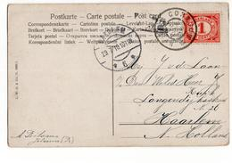 Cornjum Grootrond - Haarlem Langebalk 6 - 1910 - Marcophilie