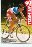 Philippe LOUVIOT . 2 Scans. Cyclisme. Toshiba 1990 - Ciclismo