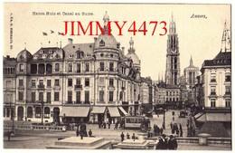 CPA POSTKAART - ANVERS ANTWERPEN - Hansa Huis Et Canal Au Sucre, Rue Bien Animée - N° 6 B - Edit. G. HERMANS - Antwerpen
