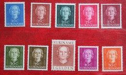 Koningin Juliana En Face NVPH 285-293 294 1951 MNH ** / POSTFRIS SURINAME / SURINAM - Suriname ... - 1975