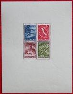 Blok Inheemse Voorstellingen Vogel Animal Tiere Fish Bird  NVPH 308  1953-1954 1955 Ongebruikt / MH SURINAME / SURINAM - Suriname ... - 1975