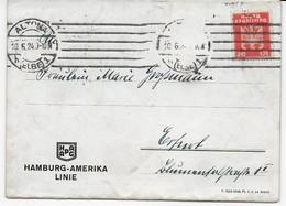 Deutsches Reich 1924 - Loporello - Karte Der Hamburg-Amerika-Linie - Steamers