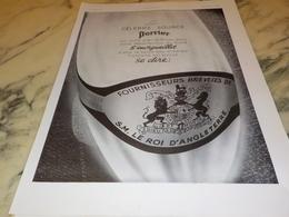ANCIENNE PUBLICITE FOURNISSEUR DU ROI D ANGLETERRE  PERRIER  1938 - Perrier