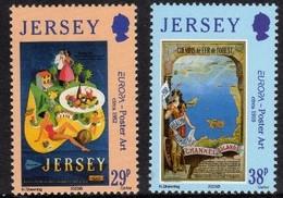 Jersey 2003 Yvertn° 1083-1084 *** MNH Cote 3,50 Euro Europa Cept Art De L' Affiche - Jersey