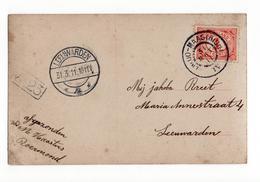 Venloo Maastricht IV Grootrond - Leeuwarden Langebalk 4 1911 - Marcophilie