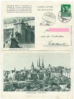 Briefkarte Nr. 2 (4) - Ville-Haute / Les 3 Tours - Stempel Ettelbruck III 16-05-1939 - Ganzsachen