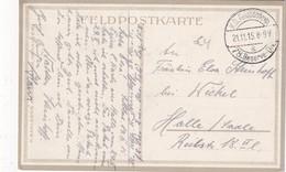 ALLEMAGNE 1915 FELDPOSTKARTE POUR HALLE - Allemagne