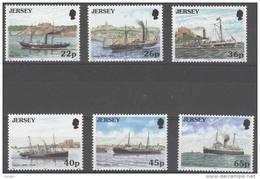 Jersey 2001 Yvertn° 960-65 *** MNH Cote 12 Euro  Bateaux Boten Ships - Jersey
