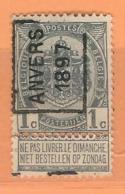 COB 53  Anvers 1897 Orientation A  Type I  (used) - Vorfrankiert