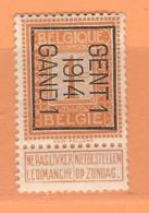 COB 108  TYPO Gent 1  1914  Gand 1  Orientation B   (used) - Préoblitérés