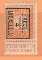 COB 108  TYPO  Brussel 14 Bruxelles  Orientation B   (MNH) - Precancels