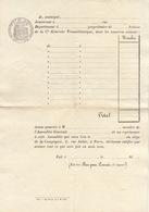 Papier Timbré De L'année 1837 Action Actionnaire De La Compagnie Générale Transatlantique - Navy