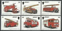 Jersey 2001 Yvertn° 994-999 *** MNH  Cote 12 € Pompiers Brandweer Fire Brigade - Jersey
