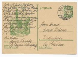 Danzig 1934 - Bildpostkarte / Ganzsache / Postal Stationery - Danzig Rathaus Nach Wittenberge - Allemagne