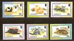 Jersey 2002 Yvertn° 1046-1051 *** MNH Cote 12,50 Euro Faune Chats Katten Cats - Jersey