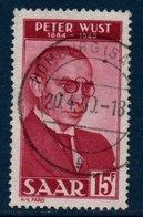 SARRE  1950 Portrait De Peter Wust   N° YT 268 - Gebruikt