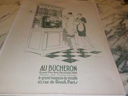 ANCIENNE PUBLICITE MAGASIN DE MEUBLE BUCHERON  1927 - Habits & Linge D'époque
