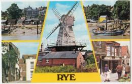 Rye - River Rother - Windmill - Mermaid Street - Lion Street - PLX3415 - 1985 - United Kingdom - England - Used - Rye