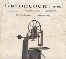 Catalogue Machine à Bois Decock Usine à Fayt Les Manages - Advertising