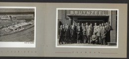 BRUYNZEEL FABRIEKEN * ZAANDAM * 1954 * MAPJE MET TWEE FOTO S TER GELEGENHEID BEZOEK * 18 X 12 CM - Plaatsen