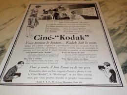 ANCIENNE   PUBLICITE VACANCE CINE KODAK 1927 - Autres