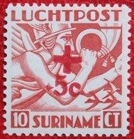 Luchtpostzegels Airmail Overprint Rode Kruis Red Cross NVPH Nr: LP23 LP 23 1942 Postfris / MNH ** SURINAME / SURINAM - Suriname ... - 1975