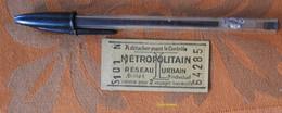 Ticket De Métro Avec Pub MP (montre) 8 Place Madeleine  - Tarif L - S101 N - Après 1946 - Vierge - Europe