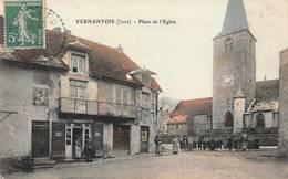 Vernantois Place De L'église Bauer Colorisée Canton Lons Le Saunier - Other Municipalities
