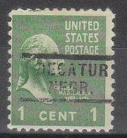 USA Precancel Vorausentwertung Preo, Locals Nebraska, Decatur 729 - United States