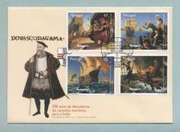 FDC, Portugal, 500 Anos Descoberta Do Caminho Maritimo India, Vasco Da Gama, Mark CTT Lisboa 12/11/1996   (2 Scans) - FDC