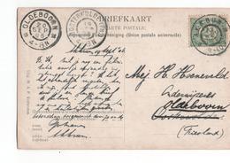 Akkbum Grootrond Oldeboorn - Oosterwolde - 1906 - Poststempel