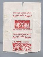 Suikerwikkel.- HOLLYWOOD. CALIFORNIA. Spreckels Sugar. GRAND CANYON ARIZONA. Suiker Sucre Zucchero Zucker Sugar - Suiker