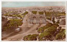 Portes-des-Bombes - Bus - Old Postcard - Malta - Used - Malta