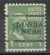 USA Precancel Vorausentwertung Preo, Locals Nebraska, Dunbar 701 - United States