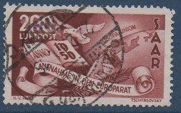 SARRE  1950 Entrée De La Sarre Dans La Communauté Européenne   N°YT PA 13  COTE 350€ (1 Dent Manquante) - Posta Aerea