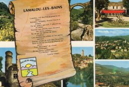 B64188 Cpm Lamalou Les Bains, Le Square - Lamalou Les Bains