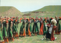 Ashgabat - Ashkhabad - The State Folk Dance Company Of The Turkmen Republic - Costumes - 1984 - Turkmenistan - Unused - Turkménistan