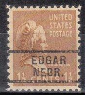 USA Precancel Vorausentwertung Preo, Locals Nebraska, Edgar 729 - Vereinigte Staaten