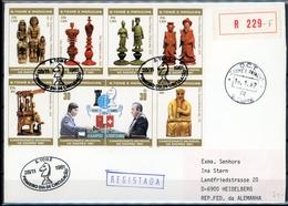Sao Tome E Principe 4er MiNr. 703-07 + 710 A Ersttagsbriefe/ FDC Schach (Scha438 - São Tomé Und Príncipe