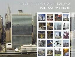UNO-New York, 2015, 1469/78,  Grußmarken. Laserdr. MNH ** - Blocks & Kleinbögen