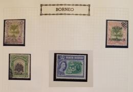 Borneo : 4 Timbres De 1961 à 1966 - Francobolli
